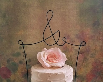 AMPERSAND Wedding Cake Topper, Wedding Cake Decoration, Engagement Cake Decoration, Wedding Decoration, Anniversary Decoration,Bridal Shower