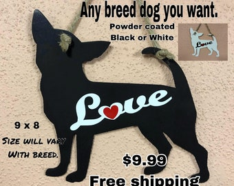 Love Dog wall Art  (Any Breed) FREE SHIPPING