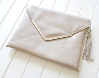 ON SALE Clutch Purse,  Faux Leather Clutch Purse, Vegan Clutch Purse, Sakuro Clutch, Handmade Clutch, Envelope Clutch, ipad Case