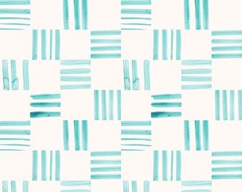 Check Aqua - Printed Cotton Fabric
