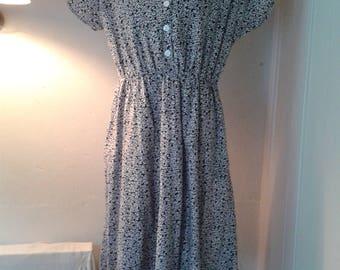 Ladies vintage cotton dress size 12