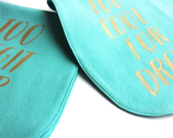 Turquoise Baby Burp Cloth Set –Soft Flannel burp cloths. Cute new mom gift. Baby gift under 20. Teal baby gift.