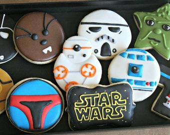 Star Wars Cookies-Star Wars Decorated Sugar Cookies