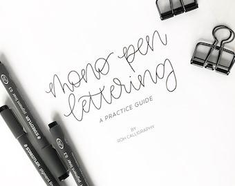 Mono Pen Lettering Practice Guide