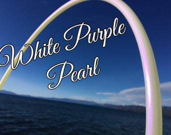 "White Purple Pearl Colored 5/8"" PolyPro Hula Hoop - You pick the size - by Colorado Hula Hoops"