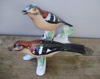 Large,Vintage, porcelain brd figurine,singing birds,hand painted stamped