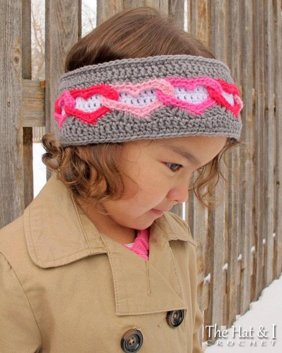 CROCHET PATTERN Heart Warmer crochet head wrap pattern