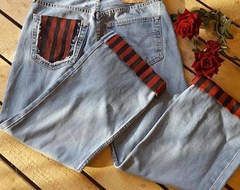 Hand Painted Vintage Levi Jeans