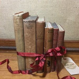 Rustic Book Decor | Rustic Home Decor | BROWN Vintage Books | Rustic Decor Ideas | Old Books Decor | Shelf Staging | Custom Sourced Books