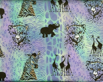 Jungle Adventure 100% cotton fabric, sold by the yard   #48