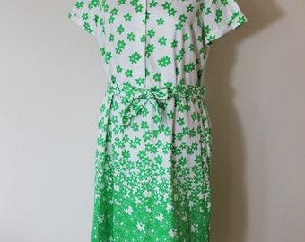 1960s Lanvin Shirt Dress // Large
