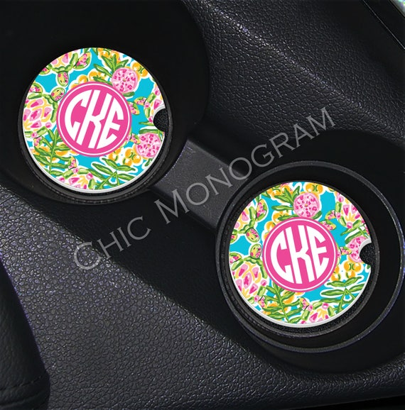 Sea Turtle Car Coasters Cup Holder Coasters Design Your Own Personalized Sandstone Coasters Car Accessories Monogrammed Swimming Turtles
