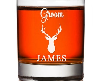 Groomsmen Gift, Personalized Whiskey Glasses, Engraved Rocks Glass Gift , Wedding Party Gift, Engraved Groomsman Whiskey Glass, Custom Rocks