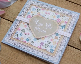 Country Garden Vintage Style Mothers Day Card