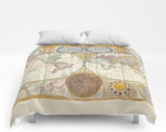 World map sham etsy duvet cover or comforter custom bedroom home boho hippie sham gumiabroncs Image collections