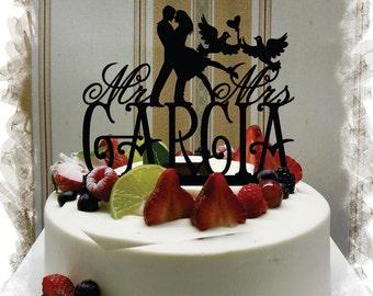 Wedding Cake Topper, Cake Topper for Wedding,Customized Wedding Cake Topper, Name Cake Topper , Personalized Cake Topper #83