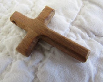 Vintage Cross Pendant Wood