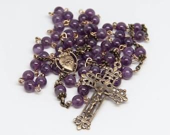 Amethyst Gemstone Rosary