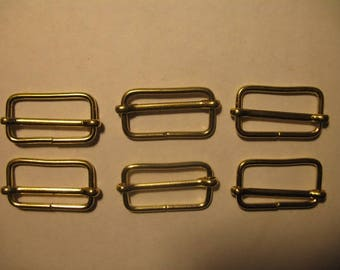 Gold Strap Hardware with Sliding Center for Handbag and Purse Craft