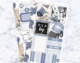 PRE-SALE! Baby Boy Bitty Kit (Glam Planner Stickers for Erin Condren Life Planner)