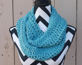 Ready to Ship Antique Teal Infinity Scarf