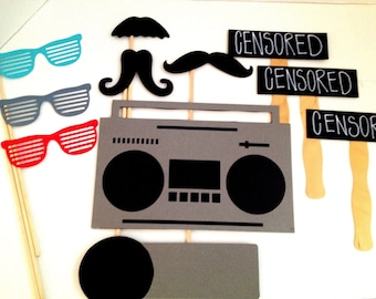 Hip Hop Photo Props Wedding Photo Booth Birthday Photo Props Music