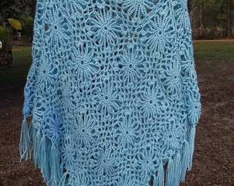 Lily of the Valley Crochet Poncho   PRICE REDUCED!