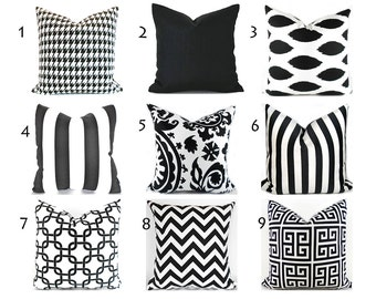 Black Pillow Covers ANY SIZE Decorative Pillows Pillow Inserts Best Pillow Floor Pillows Euro Pillows Body Pillow Bedding Lumbar You Choose