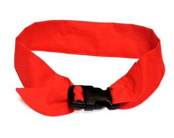"""Solid Color Dog Cooling Collar, Fabric Neck Cooler Bandana w/ Buckle, Adj fits 10"""" up to 30"""" neck, Heat Relief Band, Select Size iycbrand"""