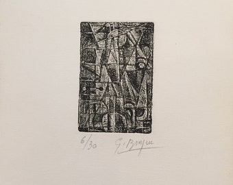 GEORGES BRAQUE - hand signed & numbered original etching - c1950s (edition of 30. Picasso interest)