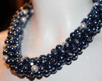 Jewelry Blue, Necklace Blue, Blue beaded Jewelry, blue beaded necklace, blue pearl jewelry, blue pearl necklace, blue pearl, blue bead, blue