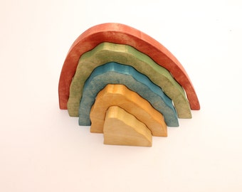 Wooden toy rainbow | Wooden toys | Educational toy | Stacking toy | Learning toy | Wood toy | Birthday gift for a kid