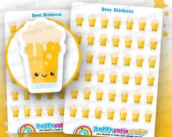 42 Cute Beer/Pint/Alcohol Planner Stickers, Filofax, Erin Condren, Happy Planner,  Kawaii, Cute Sticker, UK
