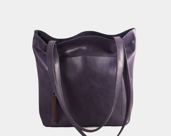 S1T1 Basic Leather Tote : Work Bag / Shopping Bag / Leather Bag / Leather Purse / Diaper bag / Handbag.