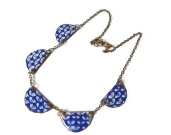Necklace copper enameled Asia travel