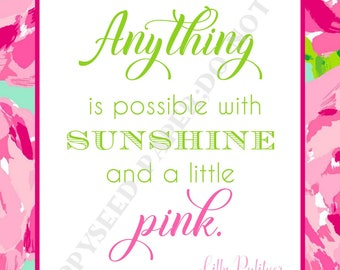 Lilly Pulitzer quotes, preppy, Quotes by Lilly Pulitzer, First Impression pattern, Digital Download