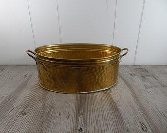 Vintage Brass Planter Nijhof Solid Brass