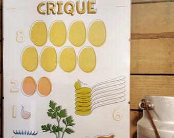 """Affiche design A3 - La Recette graphique """"Crique"""""""
