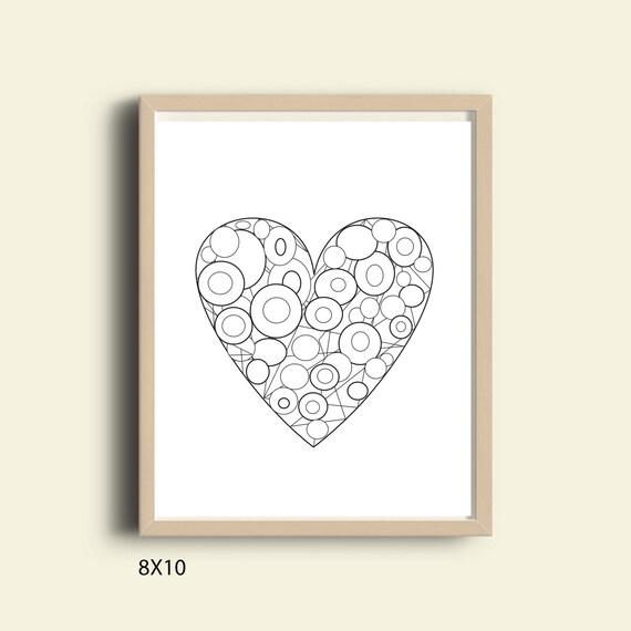 Herz Färbung Seite Download Valentinstag Malvorlagen