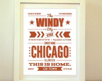 Chicago, CHI, Chicago Typography, Chicago Print, Chicago Art, Chicago Sign, Chicago Poster, Sweet Home Chicago, Typography, Chicago Decor