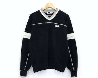 Rare!!Vintage Fila Sweatshirt Spellout biglogo Pullover Jumper hiphop streetwear sportswear vintage men clothing