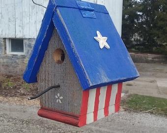 Patriotic Chickadee Birdhouse