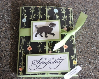 Stampin Up Homemade Greeting Card Dog With Sympathy Card 7105