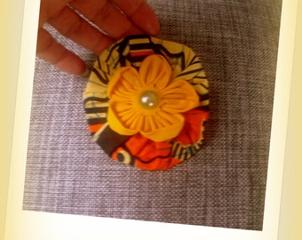 BROOCH * wax and cotton