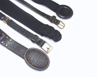 Vintage belt collection-black gothic moto lot
