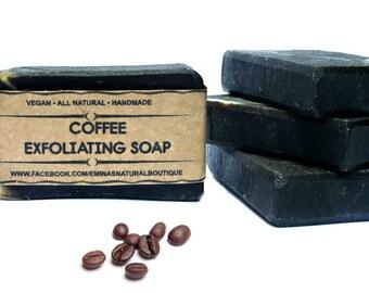Coffee Scrub Soap, Vegan Body Scrub,Exfoliating Soap, Scrub Soap, Handmade Soap, Cold Process Soap, Vegan Soap, Unscented Coffee Soap, Soaps