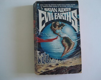 Evil Earths, Futuristic Book, Science Fiction, Earth, Vintage Sci Fi, Brian Aldiss, Anthology of Way-back-when Futures, Vintage Book, Future