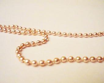 Beige 70cm ball chain / gold (light)