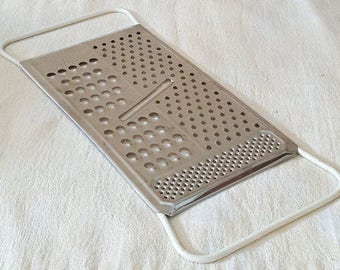Vintage Cheese Grater Foley All in One Cheese Grater with Rubberized Handles 1950s Vegetable and Cheese Grater Made in the USA