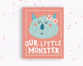 Printable Nursery Art // Little Monsters // PDF INSTANT DOWNLOAD // 8x10